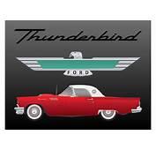Ford Thunderbird Vector  Download Free Art Stock
