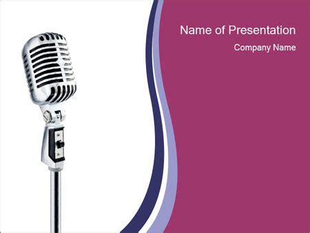 Microphone For Public Speaking Powerpoint Template Backgrounds Id 0000014236 Smiletemplates Com Speaking Powerpoint Template