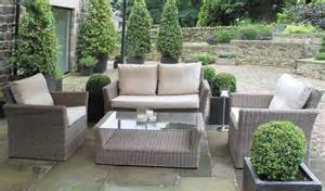 Luxury Outdoor Patio Furniture by Rattan Garden Furniture Sofa Set Rattan And Wicker