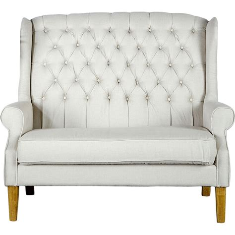 Tufted High Backed Loveseat If Only This Would Fit In