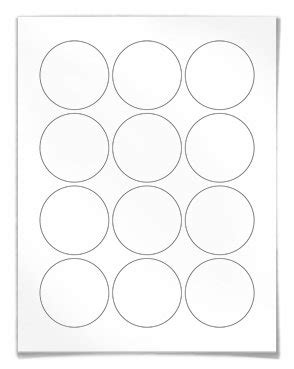 Round Labels Circular For Laser And Inkjet Printers 2 Inch Label Template 12 Per Sheet