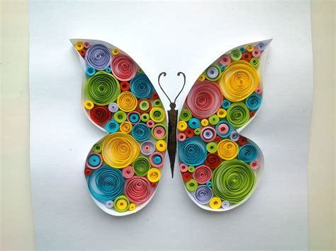 How To Make With Quilling Paper - paper quilling butterfly quilling tutorial