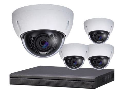 4 4k indoor outdoor dome ip security system