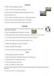 printable quiz about england english teaching worksheets england