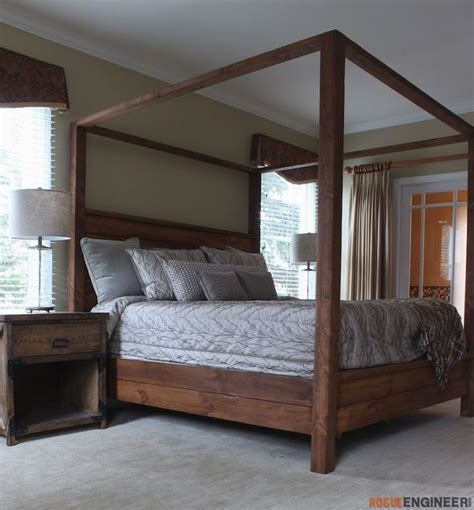 canopy bed king size diy bed frame king size canopy