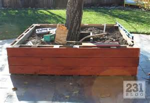 how to build a planter box around a tree woodworking