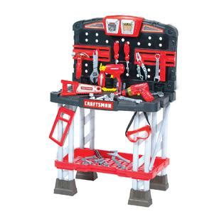 My First Craftsman Work Bench Toys Games Pretend Play Dress Up Workshop Tool Lawn Care