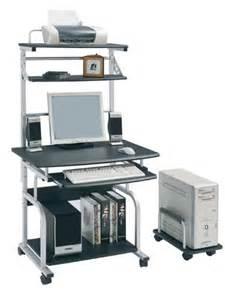 sixbros mobile computer desk pc workstation office desk