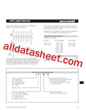 r2r resistor ladder datasheet 4816p r2r 503 datasheet pdf bourns electronic solutions