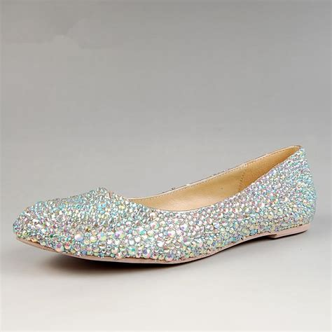 aliexpress popular silver flat prom shoes in shoes