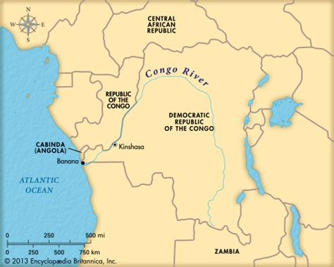 congo river map congo river map