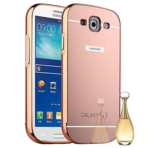 Galaxy S3 I9300 Aluminum Metal Bumper Mirror Back Az34 for samsung galaxy s3 siii i9300 luxury gold aluminum mirror back cover for