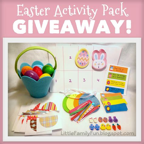 Easter Giveaway - little family fun easter activity pack giveaway
