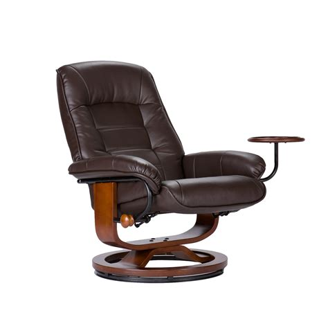 Leather Chair With Ottoman Southern Enterprises Up1303rc Leather Recliner And Ottoman