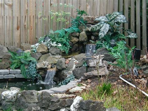 Fascinating Garden Waterfall Ideas House Improvements Plus Design In Home Images