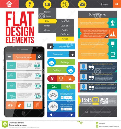 Homepage Design Elements | 13 website design elements images free web design