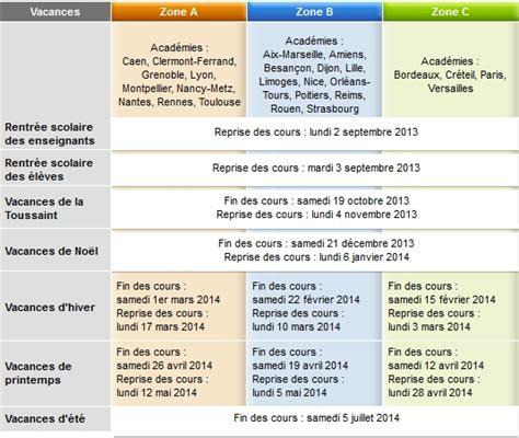 Calendrier Des Vacances Scolaires 2013 14 Calendrier Scolaire 2013 2014