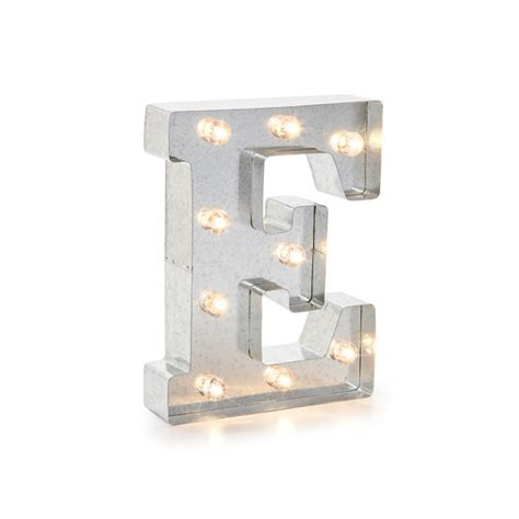 lettere luminose lettera luminosa in metallo a led quot e quot decochic