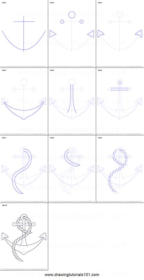 how to draw a boat step by step how to draw a boat anchor printable step by step drawing