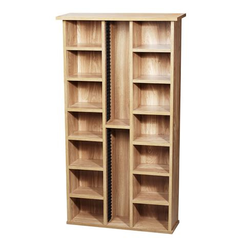 new cd dvd storage unit oak effect holds up to 60 120