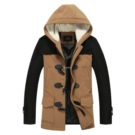 Pea Coat Winter Coat Trench Coat Jacket Coat Coat Pria Blc 8 hooded mens pea coat coat nj
