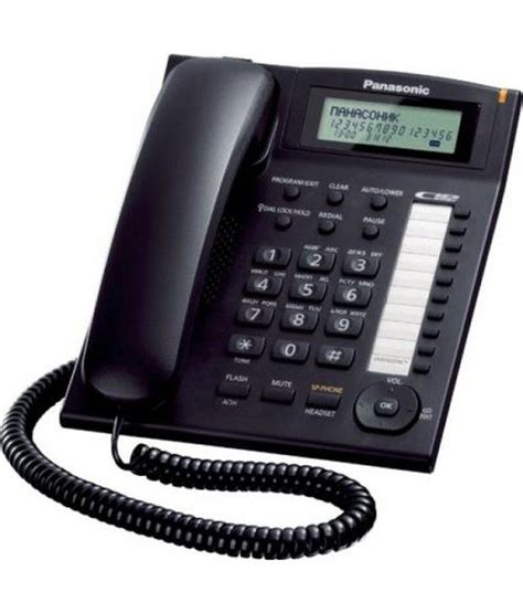 Panasonic Corded Phone Kxts505 buy panasonic kx ts880mx corded landline phone black at best price in india snapdeal