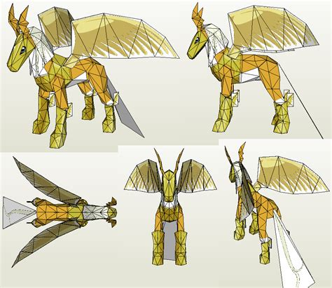 Pola Papercraft Mobil Up papercraft pegasusmon by jyxxie on deviantart