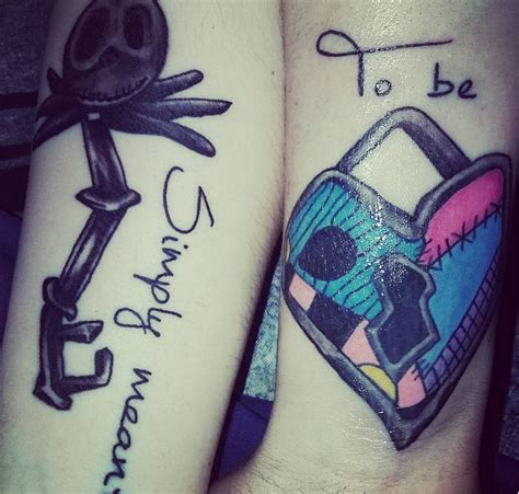 nightmare before christmas couple tattoos we are in with these disney themed tattoos m
