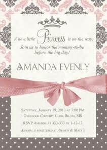 damask princess baby shower invitation printable