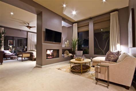 brown  white transitional master bedroom suite hgtv