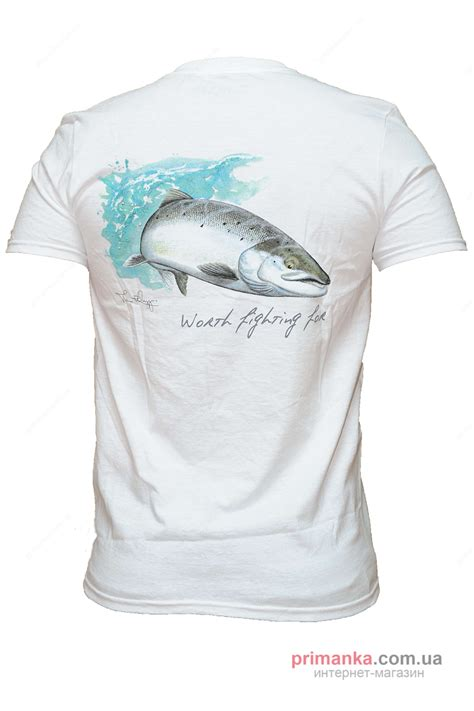 T Shirt Simms White футболка simms t shirt wiergang atl salmon ss купить