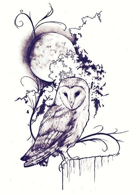 owl and moon tattoo 25 best ideas about realistic owl on