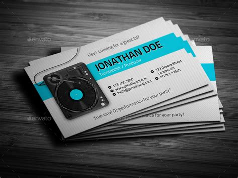 Digital Dj Business Card Template Free by Dj Business Cards Turntablist Dj Business Card Vinyljunkie