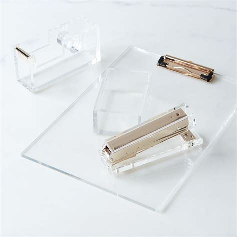 Acrylic Home Office Accessories On Food52 Lucite Desk Accessories