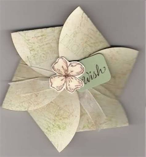 Flower Fold Card Template by On