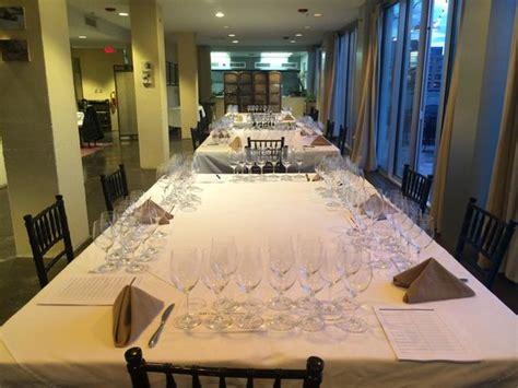 the olive room baltimore set up for tete de cuv 233 e tasting dom perignon krug cliquot 10 powerhouses vs 10 small plate