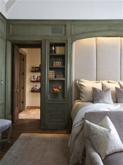 closet behind bed master bedroom bedroom birmingham by tracery interiors