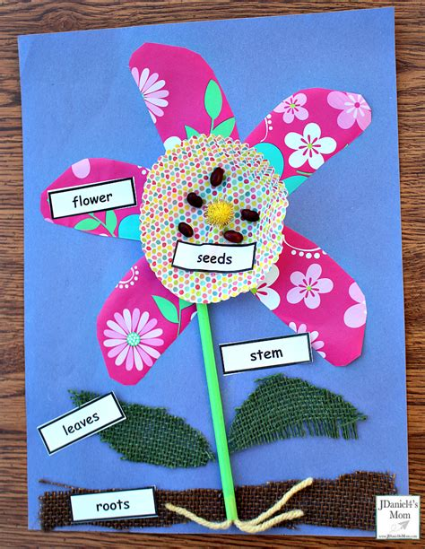 plant crafts for parts of a flower craft for