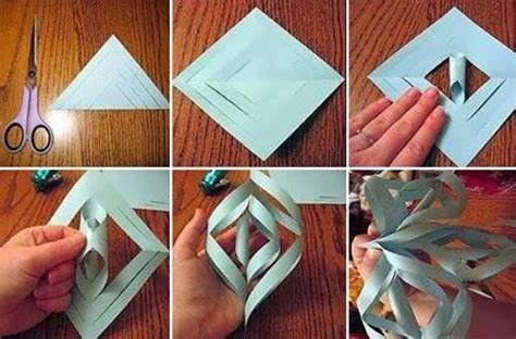 How To Make A 3d Snowflake With Paper - to make pretty paper craft 3d snowflakes step by step diy