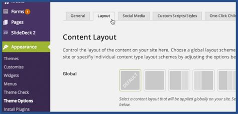wordpress global layout how to change a page layout on wordpress slocum themes