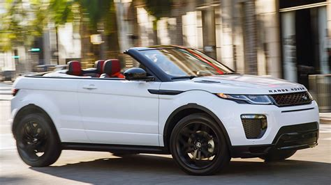 convertible land rover discovery the range rover evoque convertible is absurd and strangely