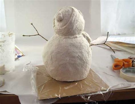 How To Make Paper Mache Faster - fast snowman with paper mache clay ultimate paper mache