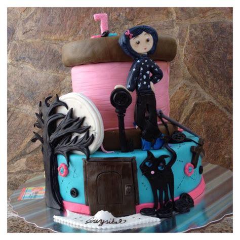coraline cake        fun   punks cakes pinterest coraline