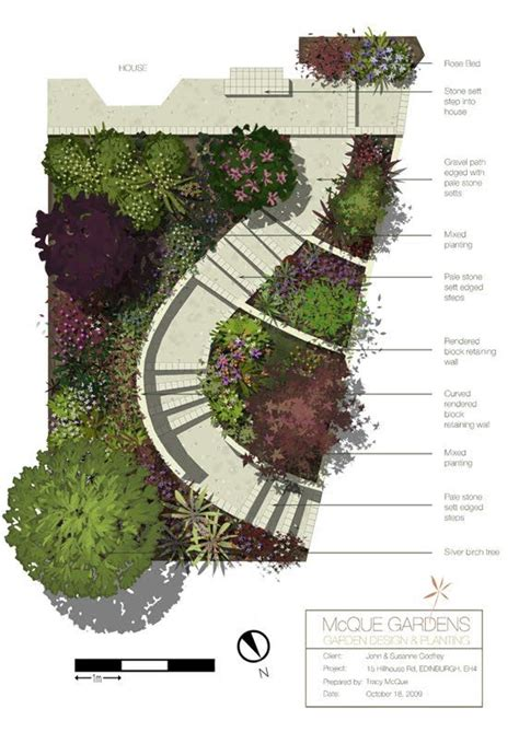 landscape layout sketchup mcque gardens using sketchup photoshop for design work