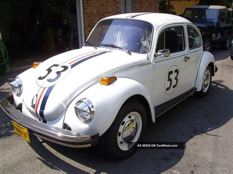 volkswagen beetle classic herbie 1974 vw beetle bug herbie the love bug replica look