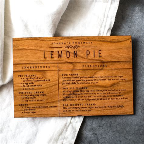 Magnolia Market Gift Card - wooden recipe card magnolia market chip joanna gaines