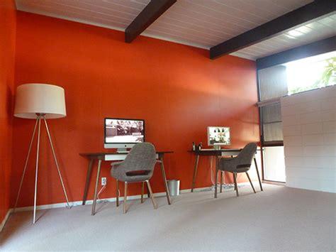 Orange Office by 28 Interior Design Orange Wall Trend Interior