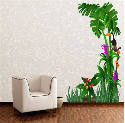 designer wall stickers tropical nature birds and tree wall stickers lobby design physicians dentists doctors