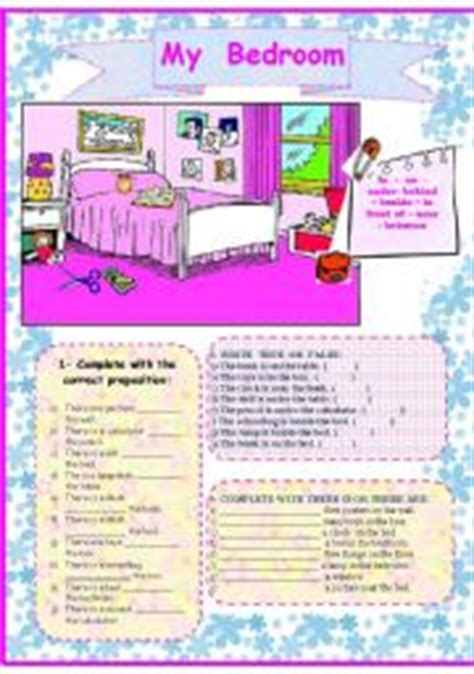 description of bedroom my bedroom worksheet by nilza fardin