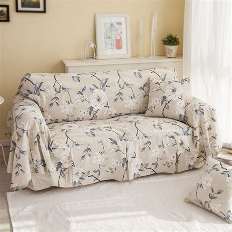sofa cloth cover beige cotton sofa cloth sofa cover plain flowers sofa